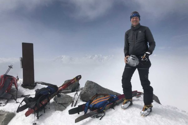 Christian auf dem Gipfel des Monte Leone