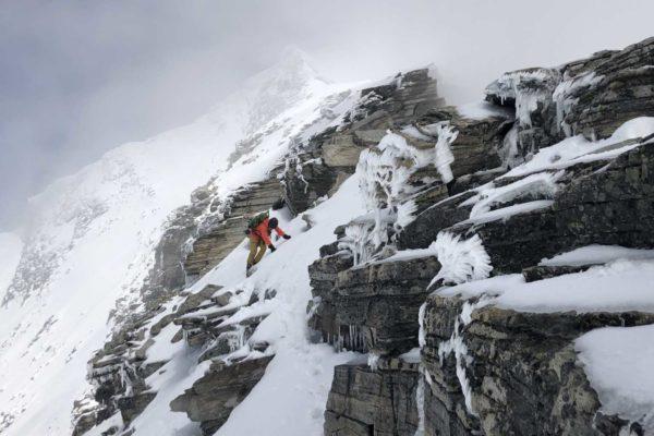 Sandro auf den letzten Metern zum Skidepot